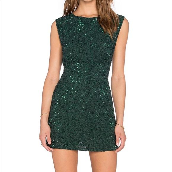 ea5620df MLV Dresses | Green Sequin Mini Dress | Poshmark